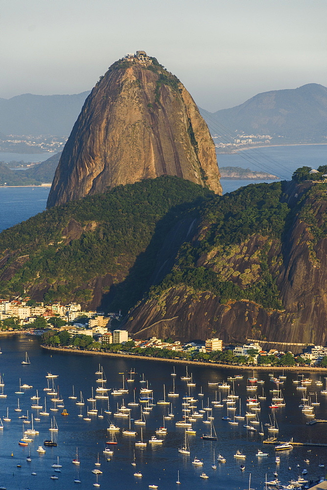 Sunset on Sugar Loaf Mountain seen from Mirante Dona Marta, Rio de Janeiro, Brazil