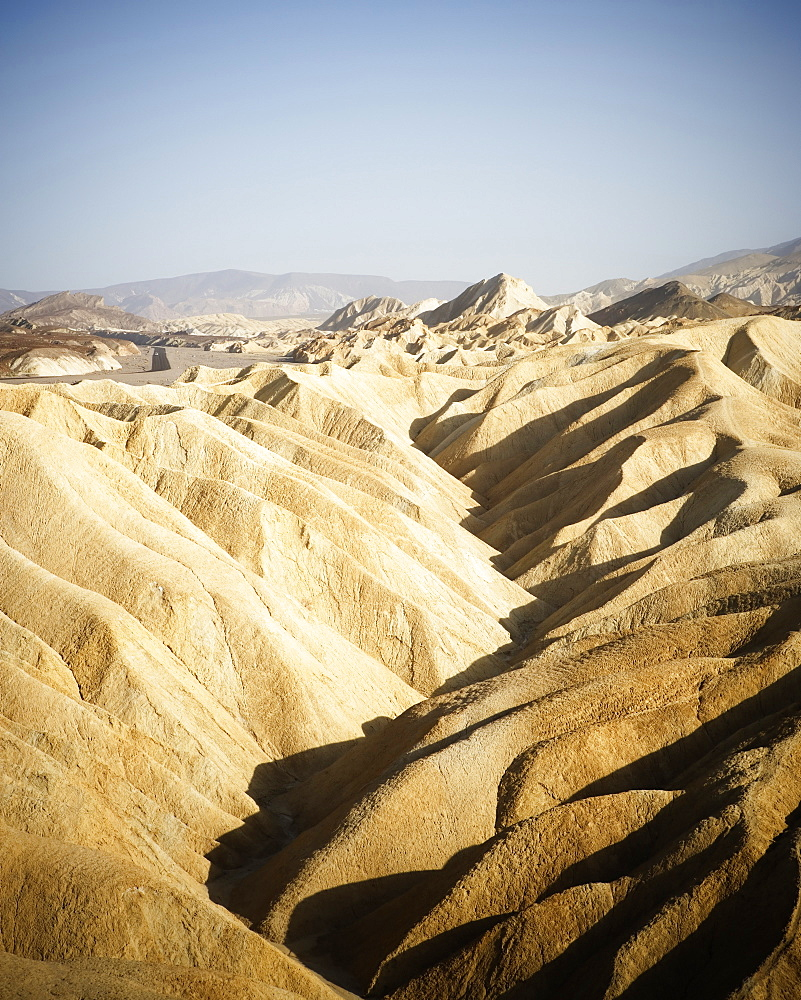 Scenic view of desert from Zabriskie Point in Death Valley National Park, California.
