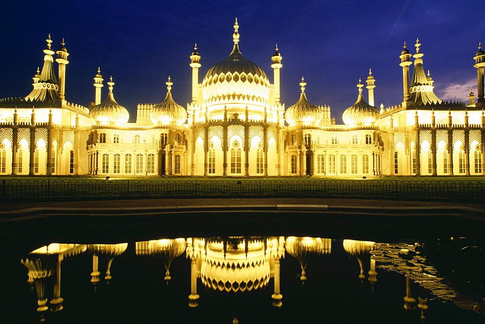 The Royal Pavilion At Night, Brighton, England
