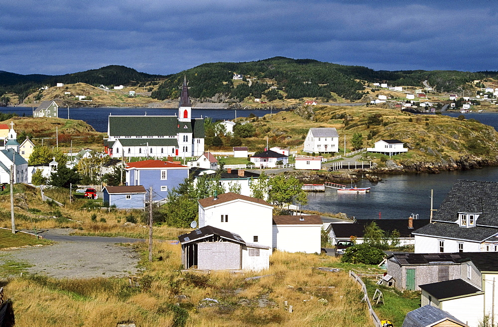 Overview Of Historic Trinity, Newfoundland, Canada