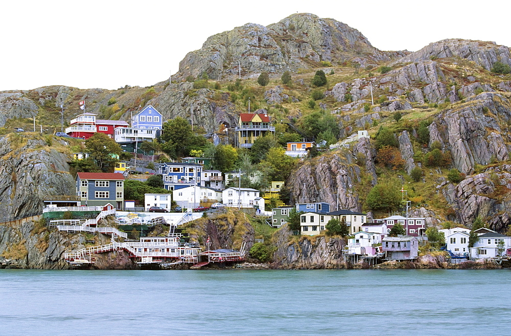Houses Facing Saint John's Harbour, Newfoundland, Canada