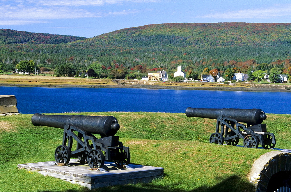 Cannons At Fort Anne National Historic Park, Annapolis Royal, Nova Scotia, Canada