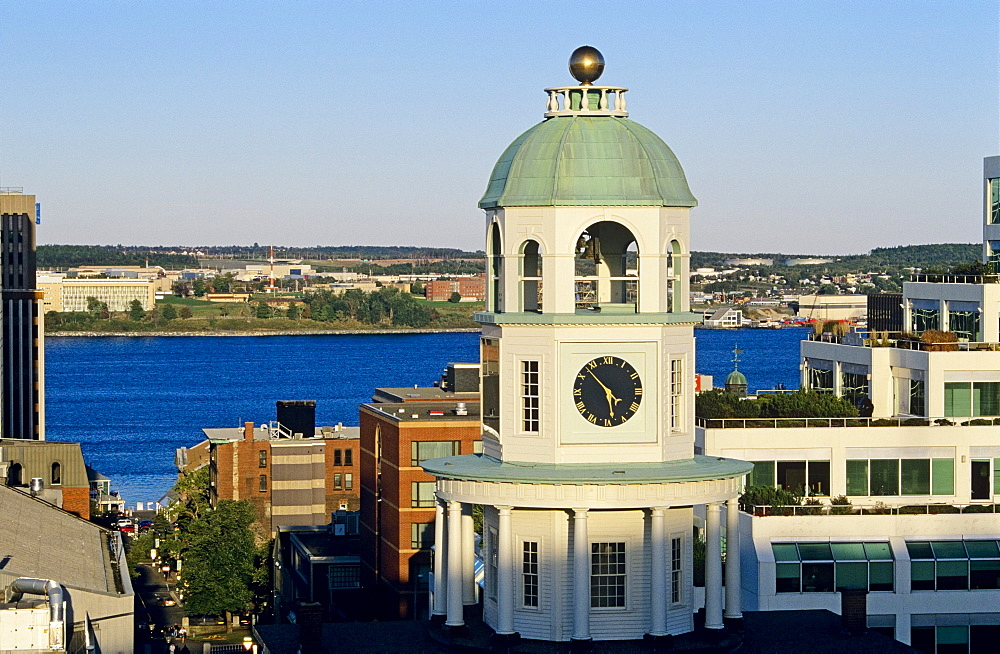 Halifax Clock Tower As Viewed From The Citadel, Nova Scotia, Canada