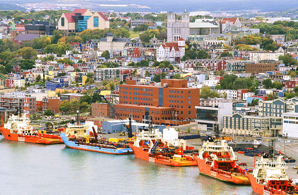 Overview Of Historic Saint John's, Newfoundland, Canada