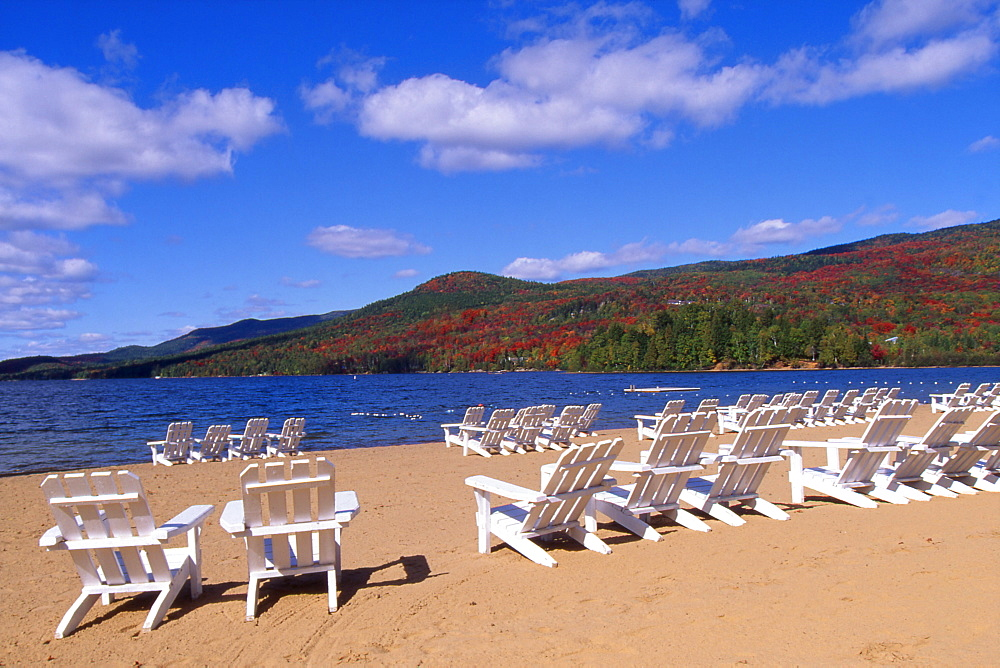 Chairs On The Beach, Mont Tremblant, Quebec, Canada