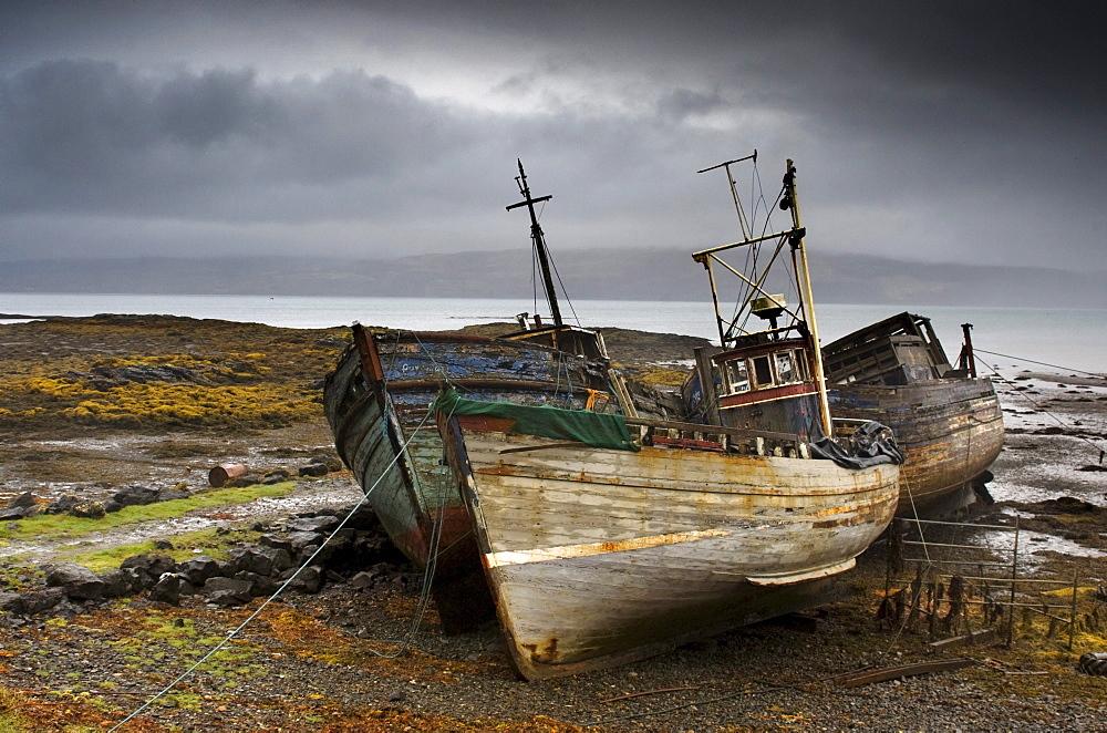 Shipwreck, Isle Of Mull, Scotland