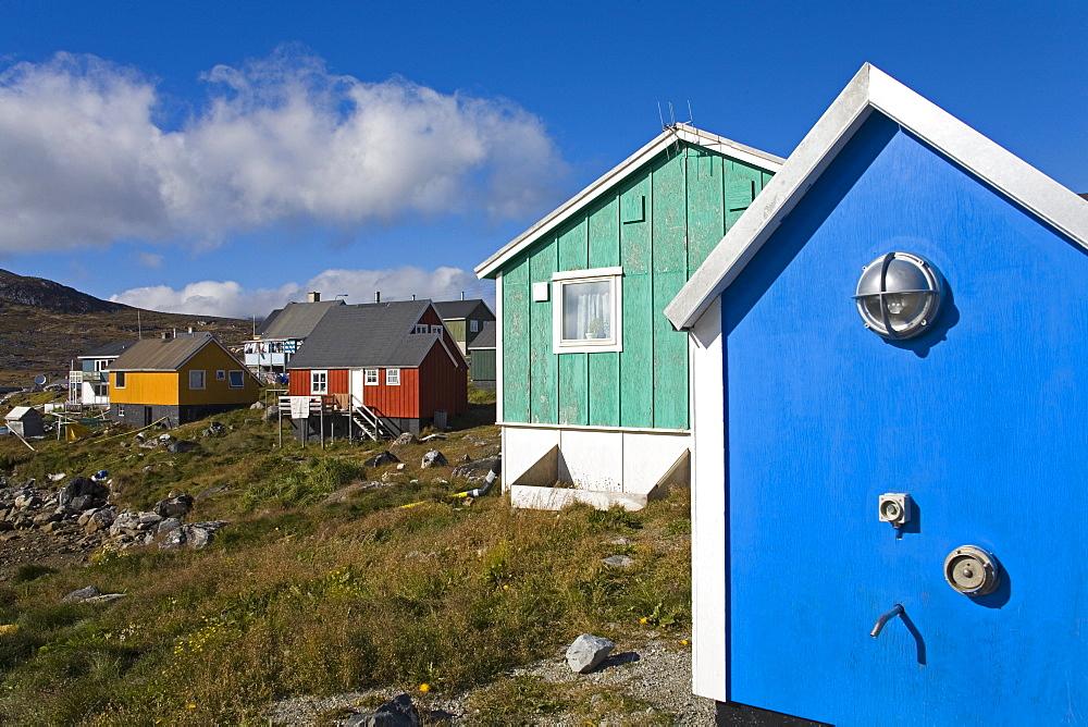 Colorful Houses, Port Of Nanortalik, Island Of Qoornoq, Province Of Kitaa, Southern Greenland