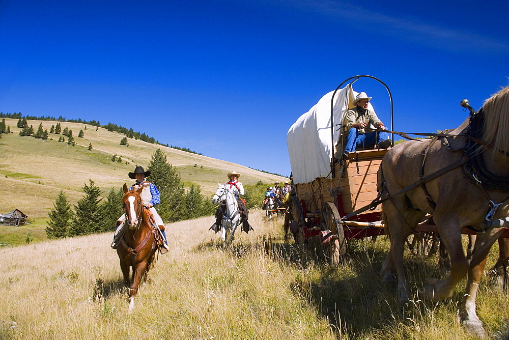 Travel By Horse And Wagon