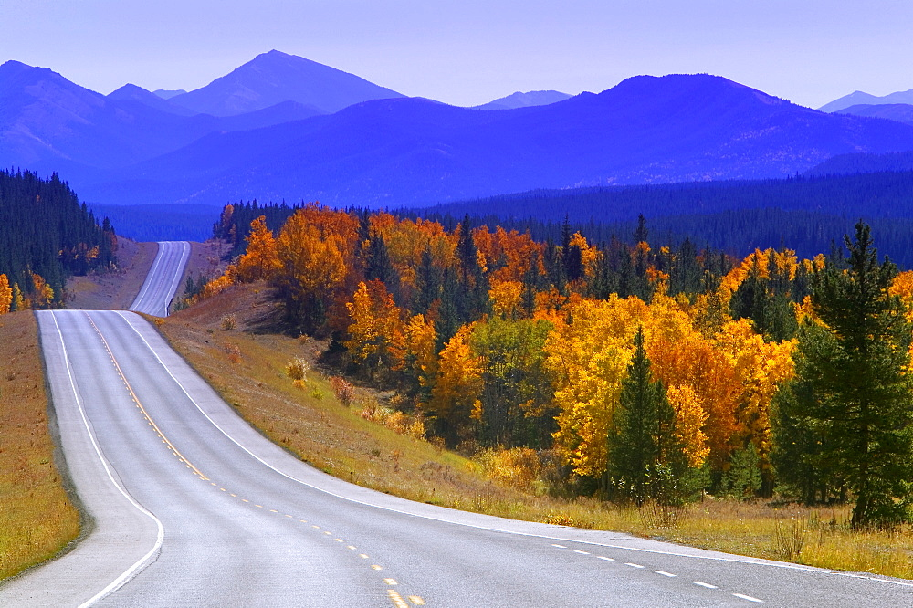 Highway, Kananaskis Country, Alberta, Canada