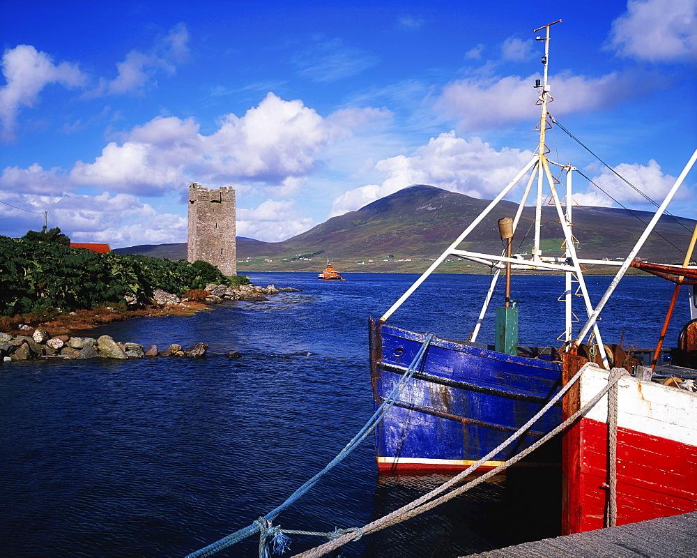 Carrickkildavnet Castle, Achill Island, County Mayo, Ireland;