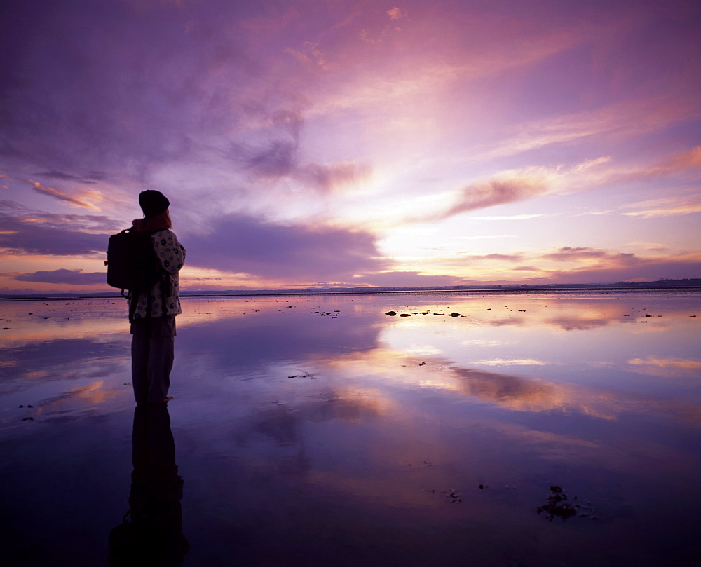 Hiker, Strangford Lough, Co Down, Ireland