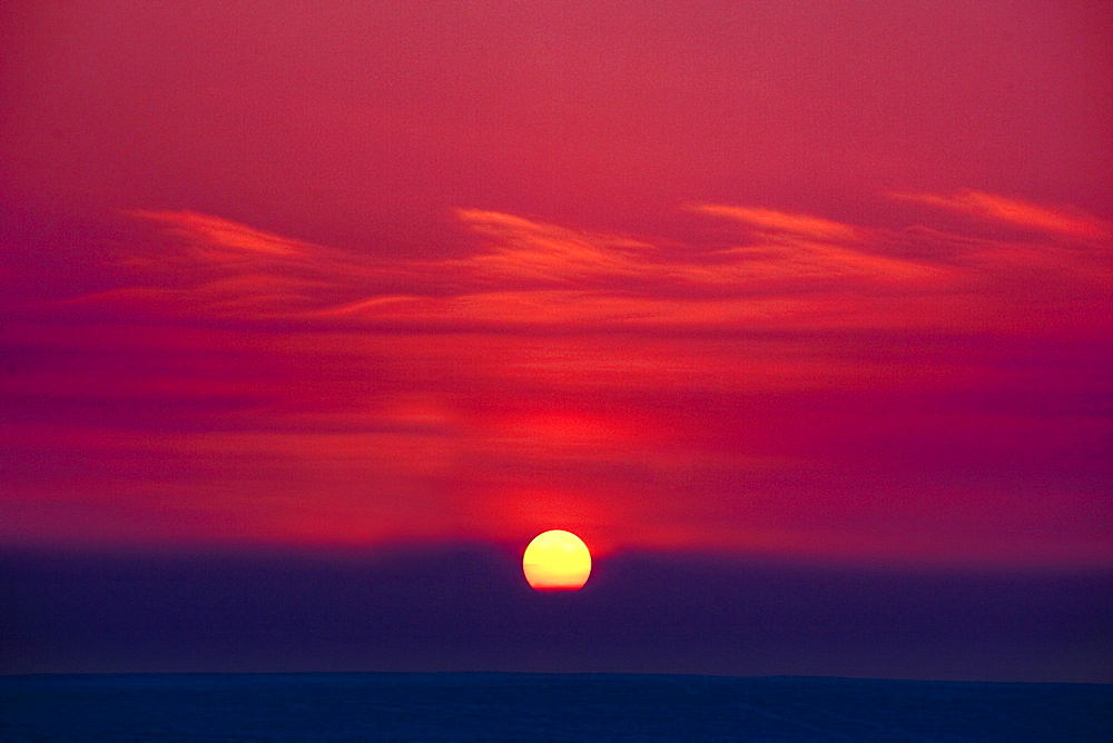 Red Sky And Sunset