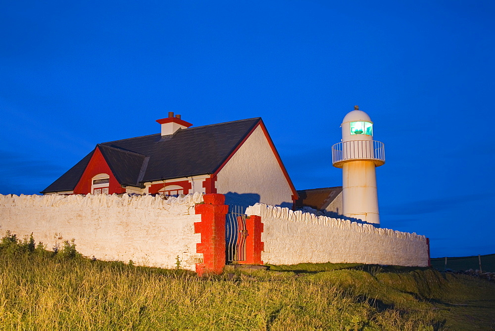 Dingle, Dingle Peninsula, County Kerry, Ireland, Lighthouse At Dusk