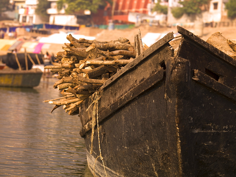 Loaded Boat, Varanasi, India