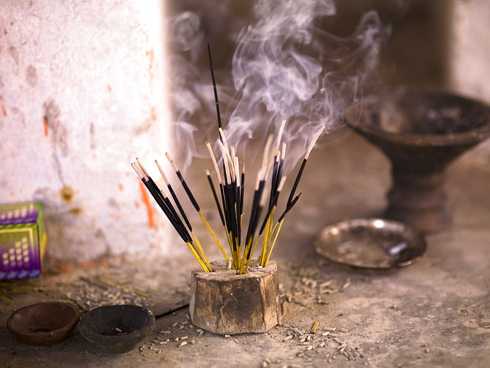 Burning Incense, Aravalli Hills Of Rajasthan, India