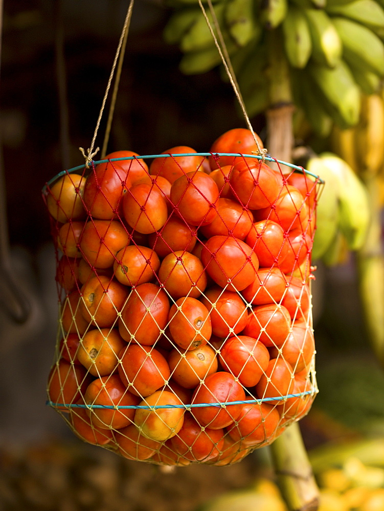 Cherry Tomatoes In A Basket
