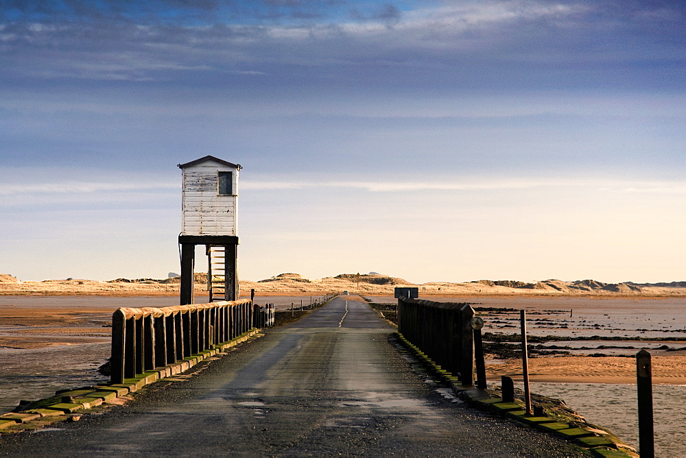 Look-Out Tower By Bridge, Holy Island, Bewick, England