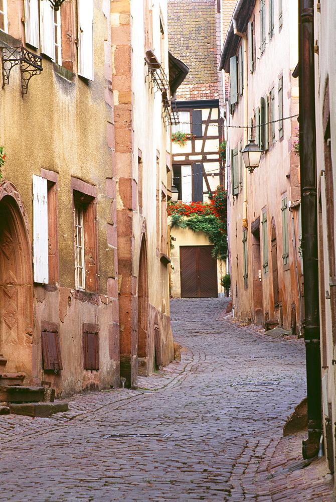 Narrow Street, Grignan, Provence, France