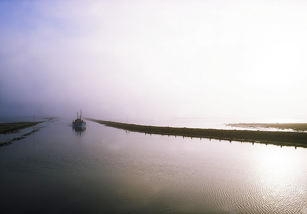 Sailboat On A Misty Morning, Killala, County Mayo, Ireland