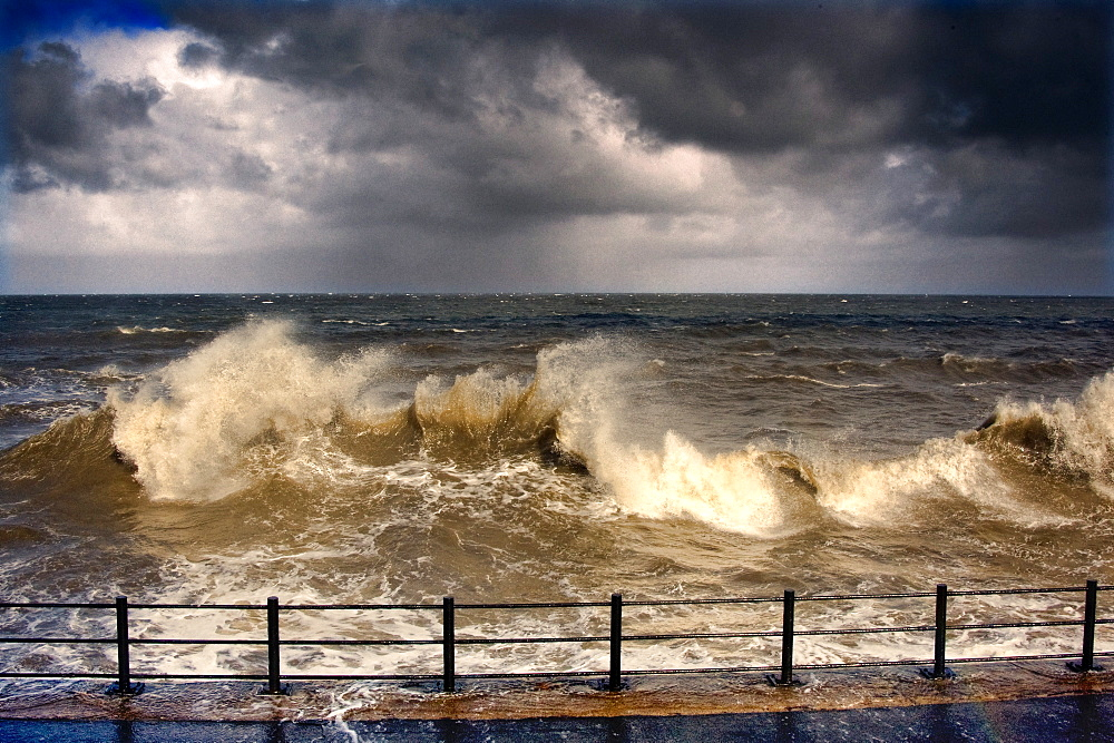 Stormy Seascape, Sunderland, Tyne And Wear, England, United Kingdom