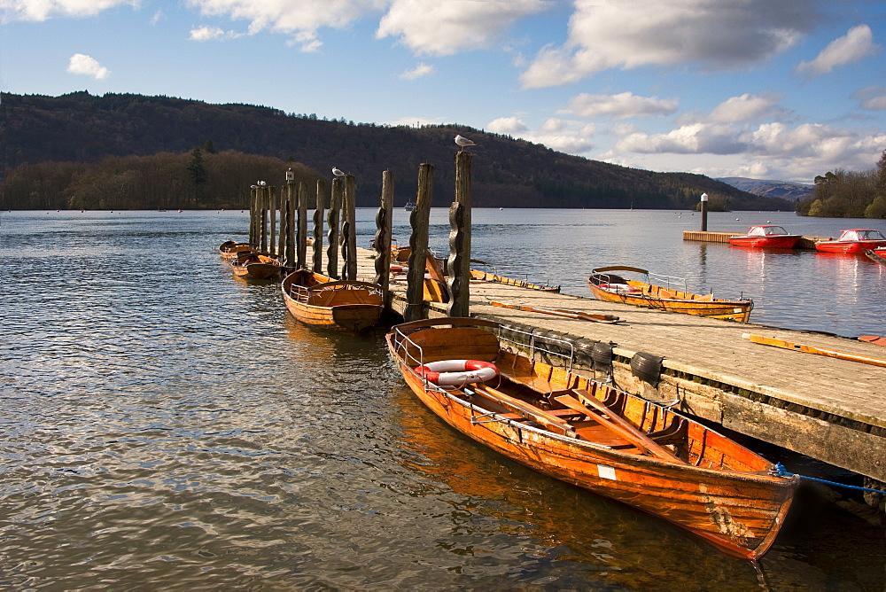 Boat Docked, Keswick, Cumbria, England