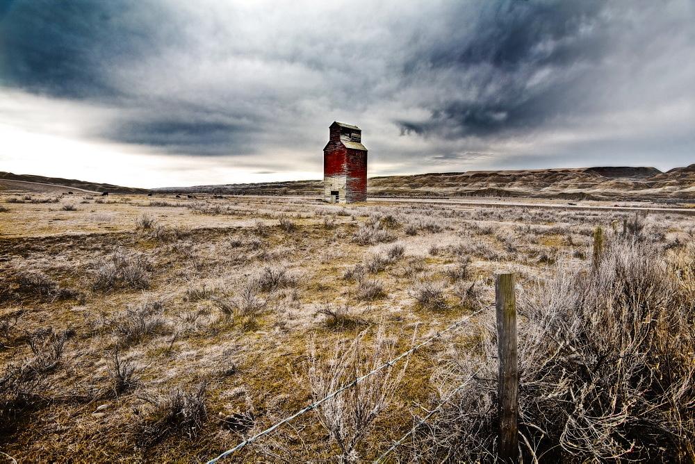 Old Grain Elevator, Dorothy, Alberta, Canada