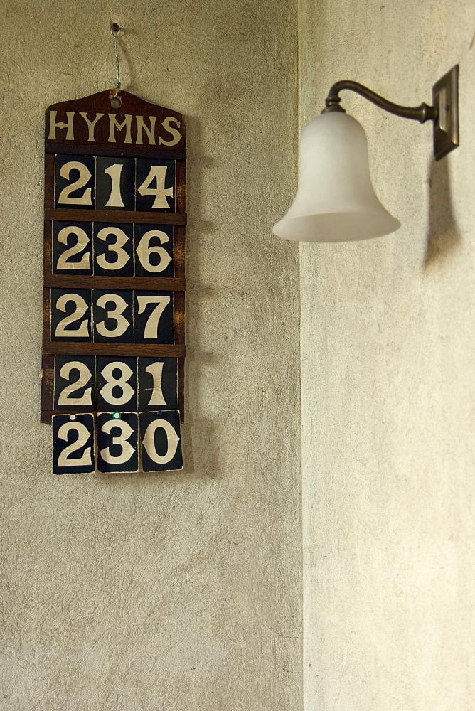 Hymn Board In Church