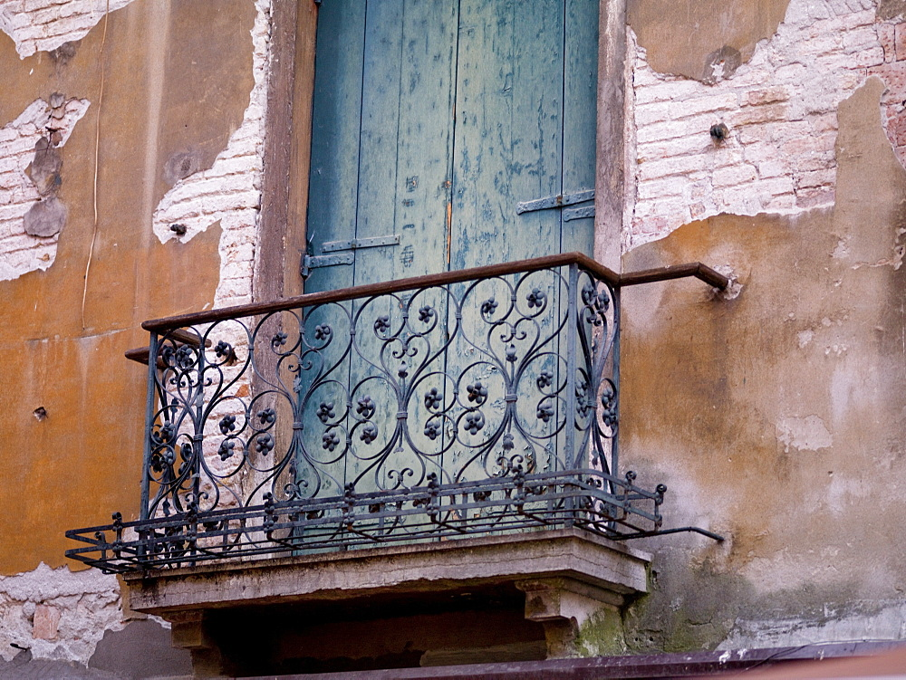 Weathered Building And Balcony, Venice, Italy