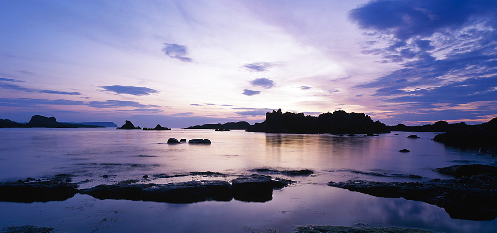 Whitepark Bay At Sunset, Whitepark Bay, Ballintoy, Co Antrim, Northern Ireland