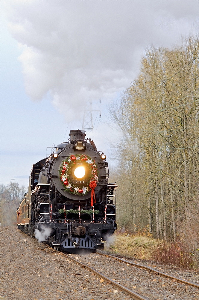 Steam Locomotive, Portland, Oregon, Usa