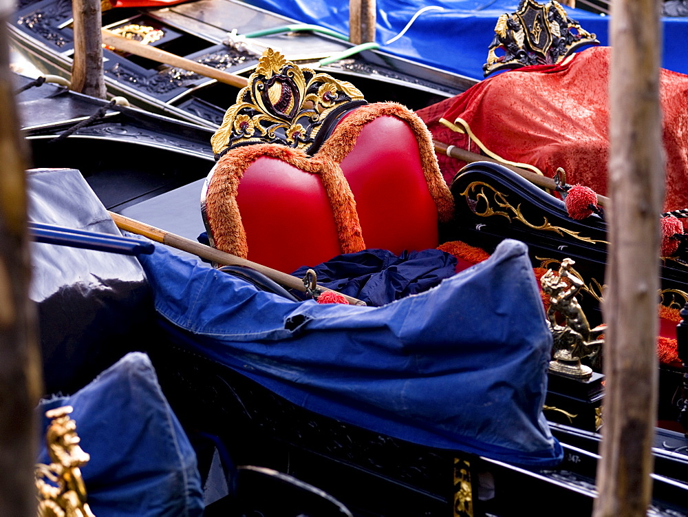 Seating In A Gondola, Venice, Italy