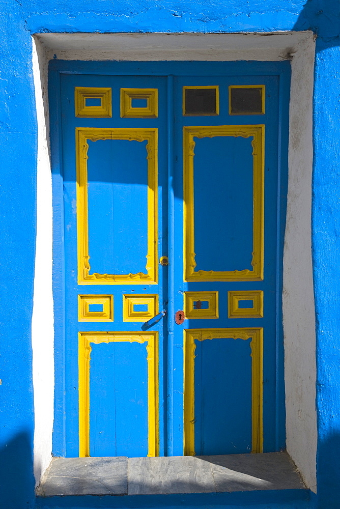 Macharaviaya, Andalucia,Spain, Blue And Yellow Door