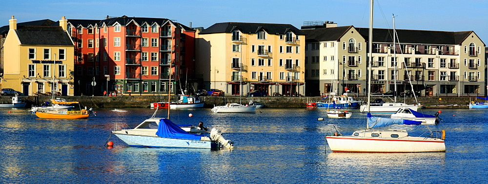 Dungarvan, Co Waterford, Ireland, Boats In The Harbour