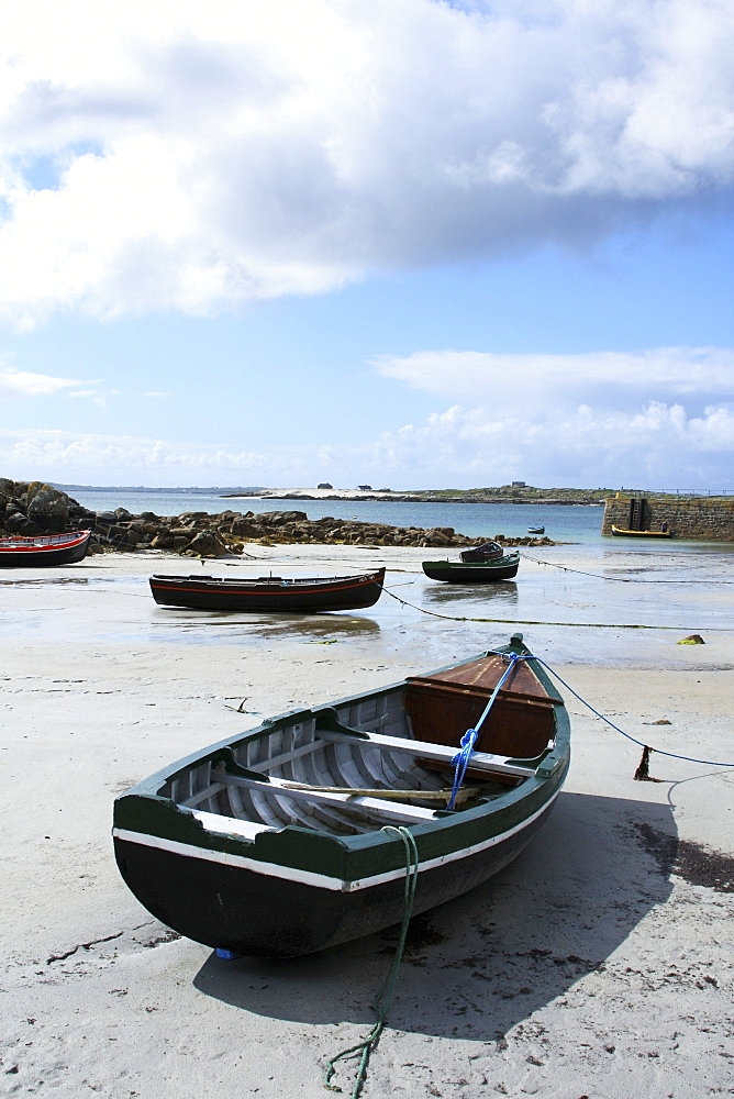 Roundstone, Co Galway, Ireland, Small Harbour With Boats