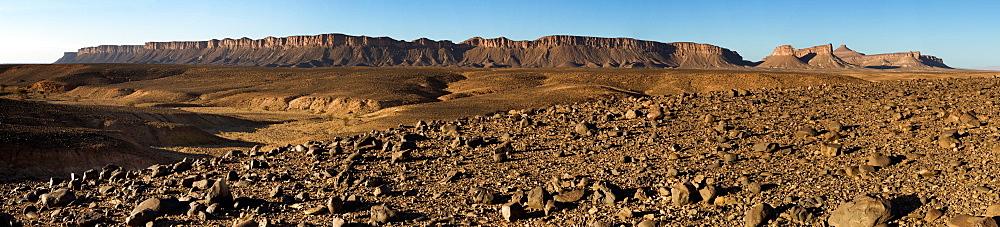 Dry Land Below A Mountain Range