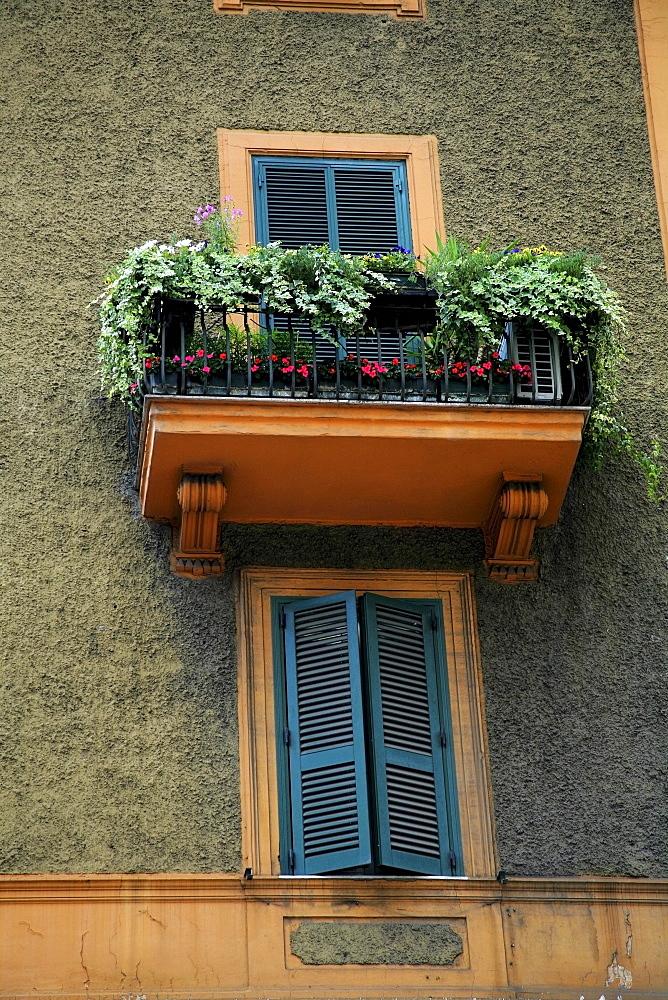 Rome, Italy, Balcony And Window