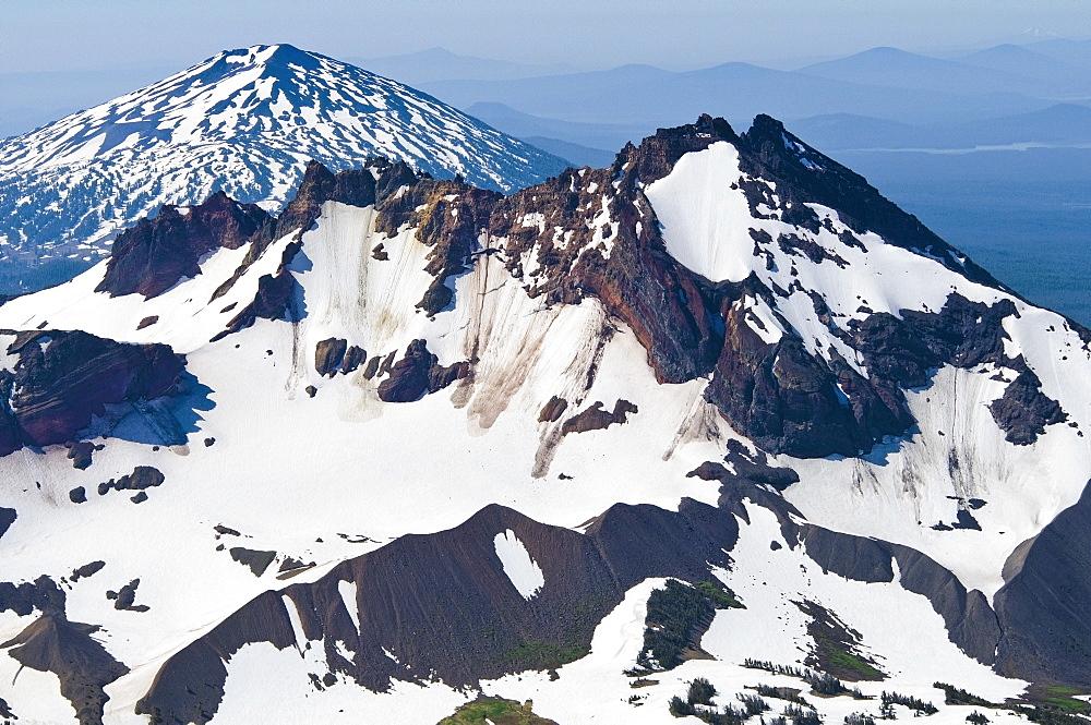 Mt. Bachelor, Oregon Cascades, Oregon, Usa, Snow-Covered Mountain Peak