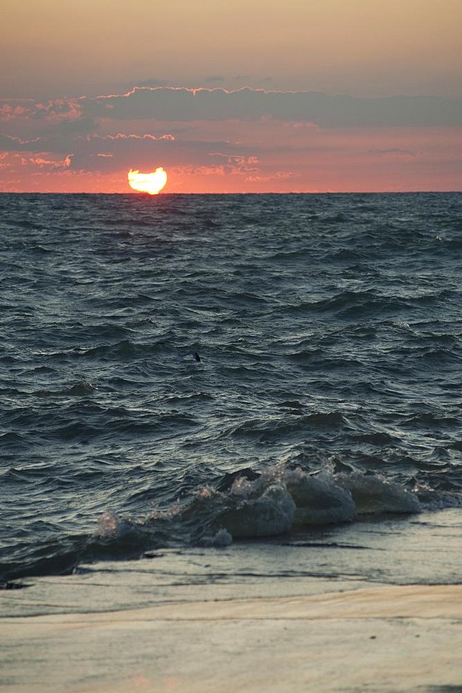Sunset Over The Ocean