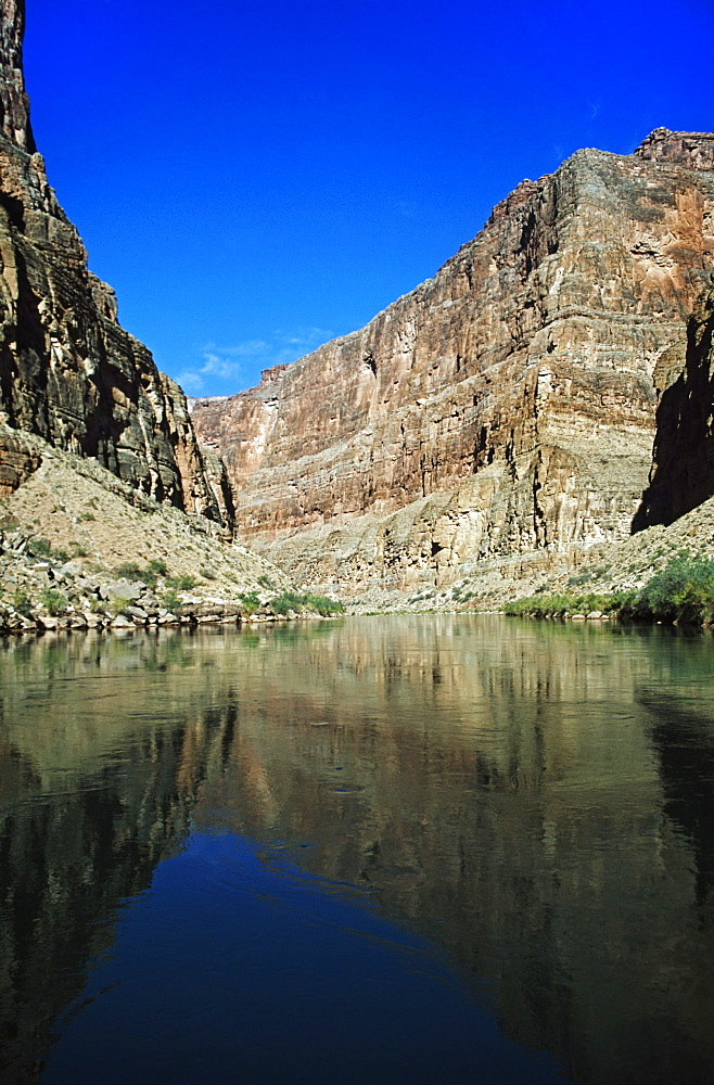 Colorado River In The Bottom Of The Grand Canyon, Arizona, United States Of America
