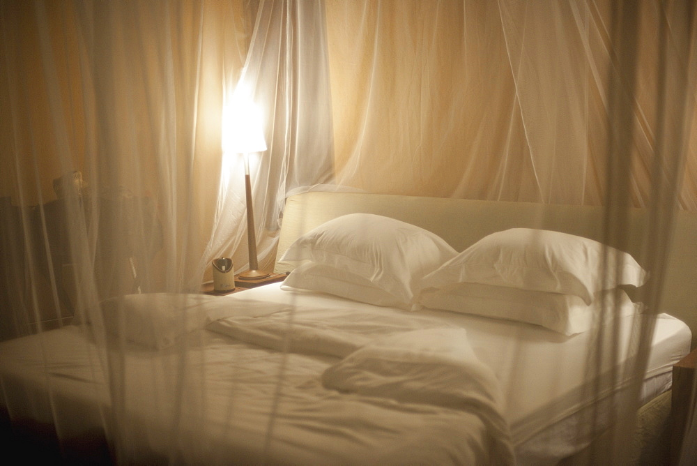 Bedding With Mosquito Netting, Kenya, Africa