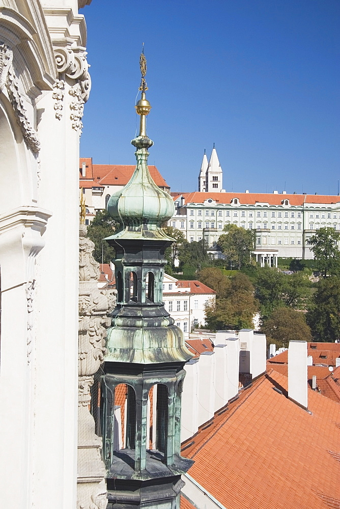 Copper Tower And Rooftops, Prague, Czech Republic