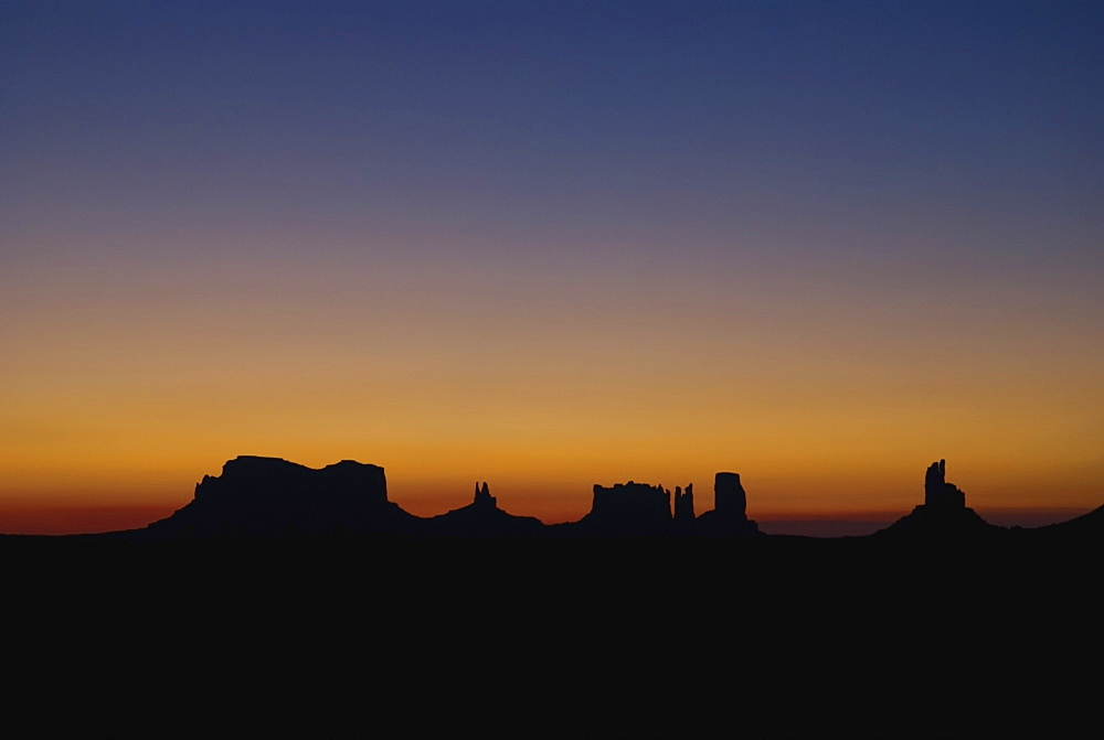 Silhouette Of Rock Formations At Sunset - 1116-41189