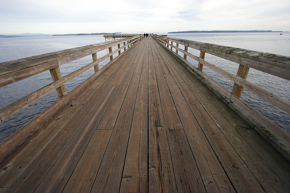 Sidney, British Columbia, Canada, A Dock Leading Out To The Ocean