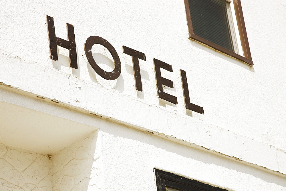 Alberta, Canada, An Old Hotel Sign - 1116-41249