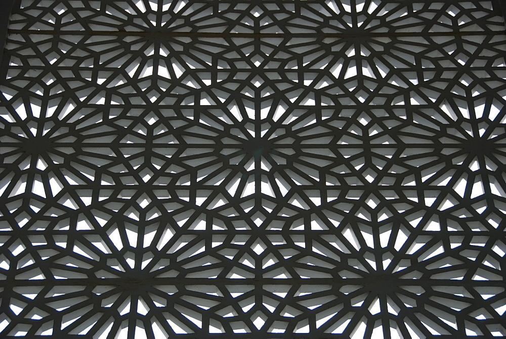 Kuala Lumpur, Malaysia, An Ornate Metal Design As Part Of A Building
