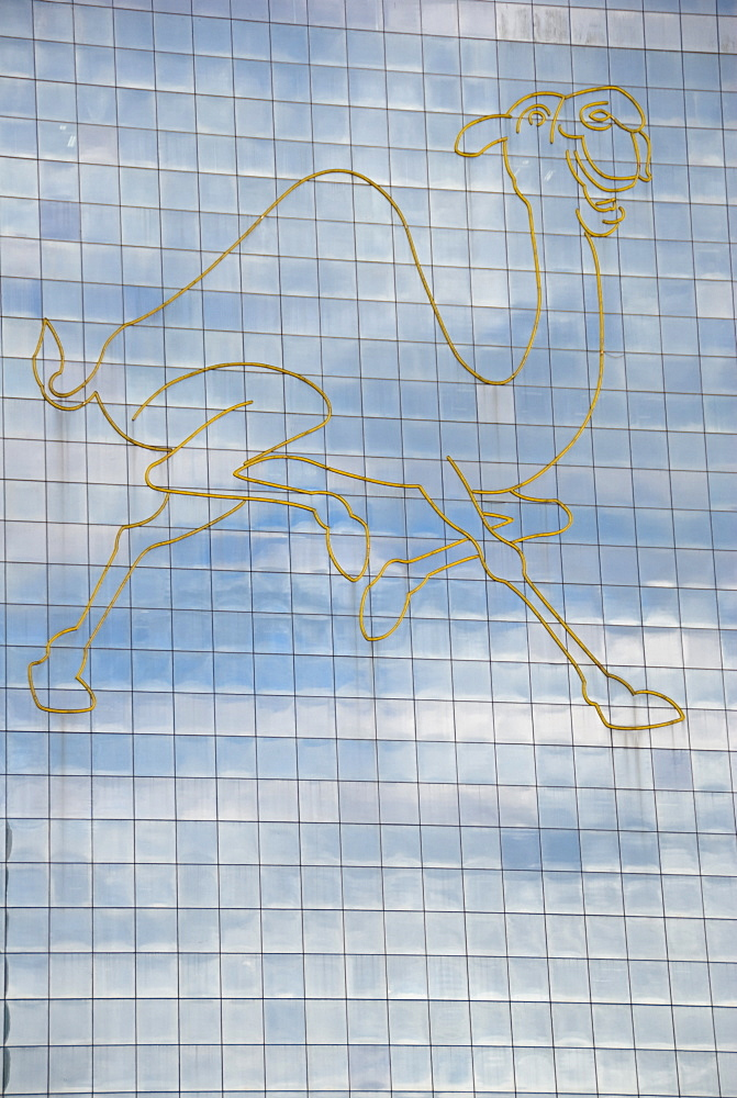 Kuala Lumpur, Malaysia, A Picture Of A Camel On The Side Of A Building