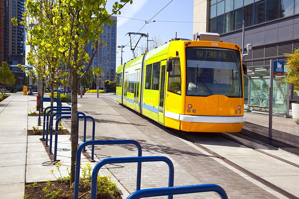 Rail Transport As Public Transportation Traveling Through The City
