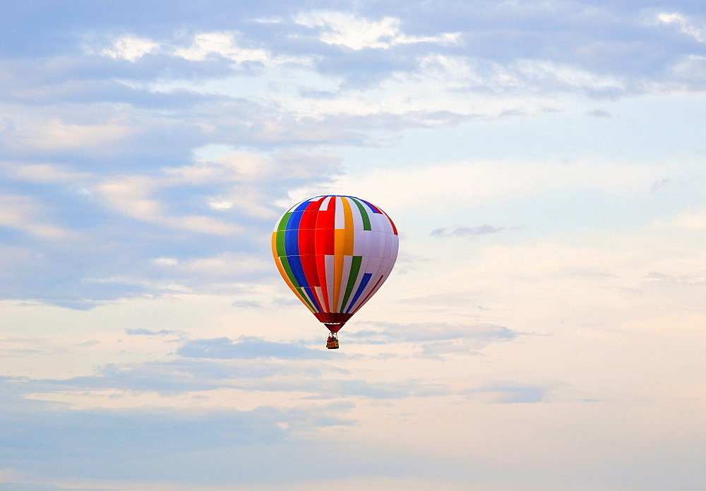 Hot Air Balloon In Flight, St. Jean Sur Richelieu, Quebec, Canada