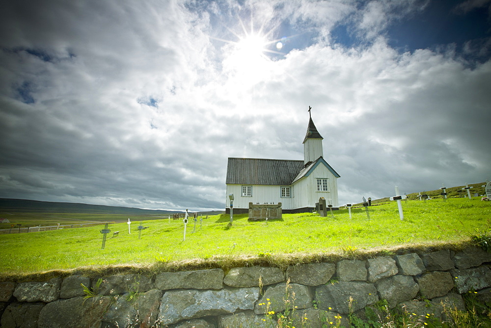 A Church And Cemetery, Iceland