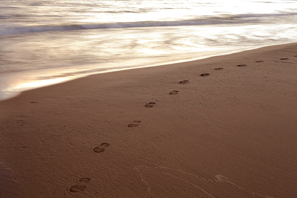 Footprints On A Beach, Wawa, Ontario, Canada